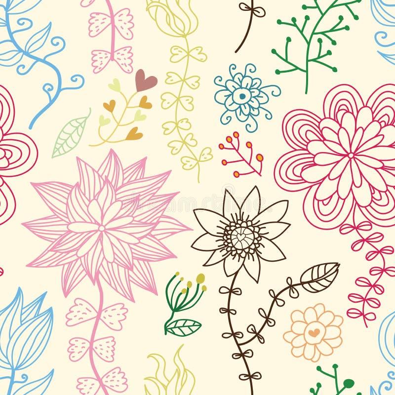 floral ρομαντικός άνευ ραφής προτύπων ελεύθερη απεικόνιση δικαιώματος