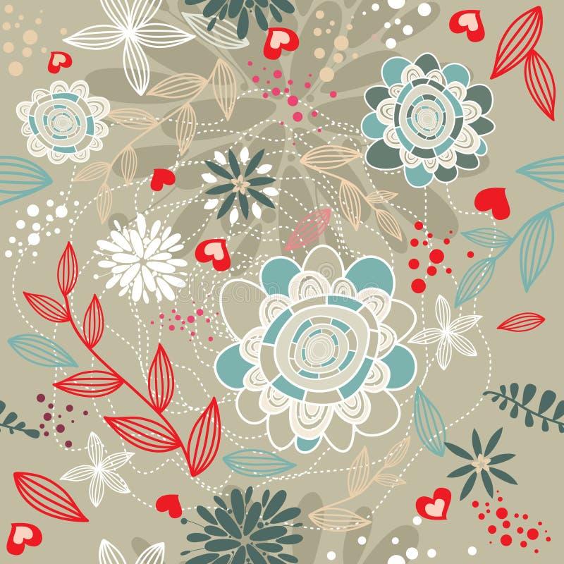 floral ρομαντικός ανασκόπησης ελεύθερη απεικόνιση δικαιώματος