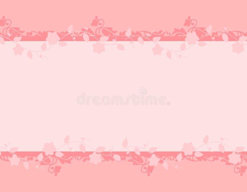 floral ρόδινη άμπελος άνοιξη συν διανυσματική απεικόνιση