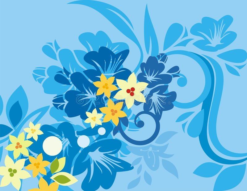 floral σειρά ανασκόπησης απεικόνιση αποθεμάτων
