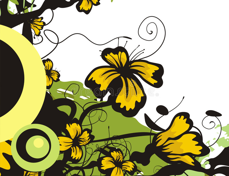 floral σειρά ανασκόπησης διανυσματική απεικόνιση