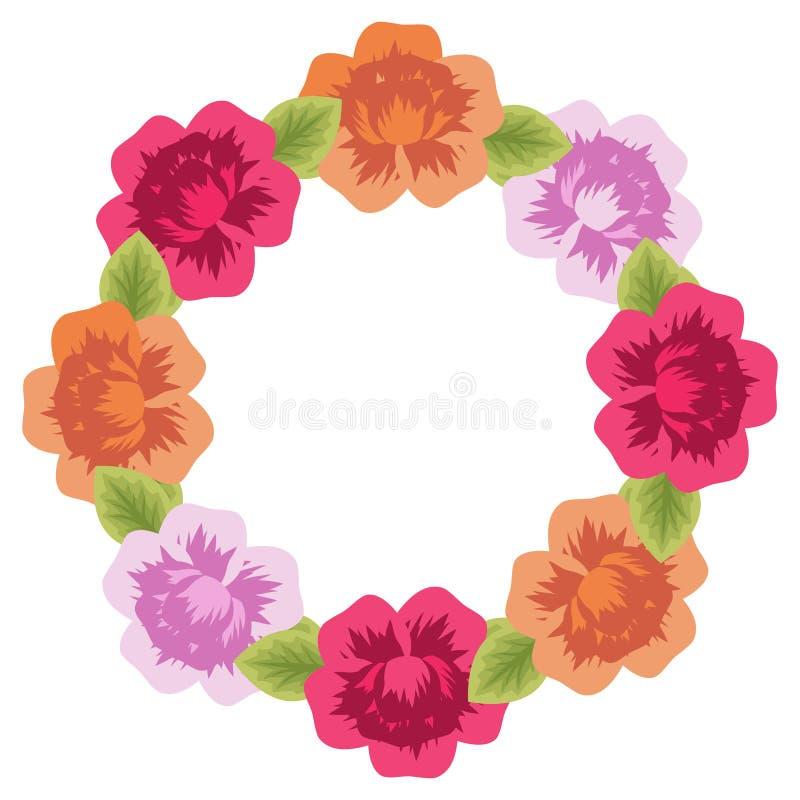 floral σειρά πλαισίων πλαισίων διανυσματική απεικόνιση