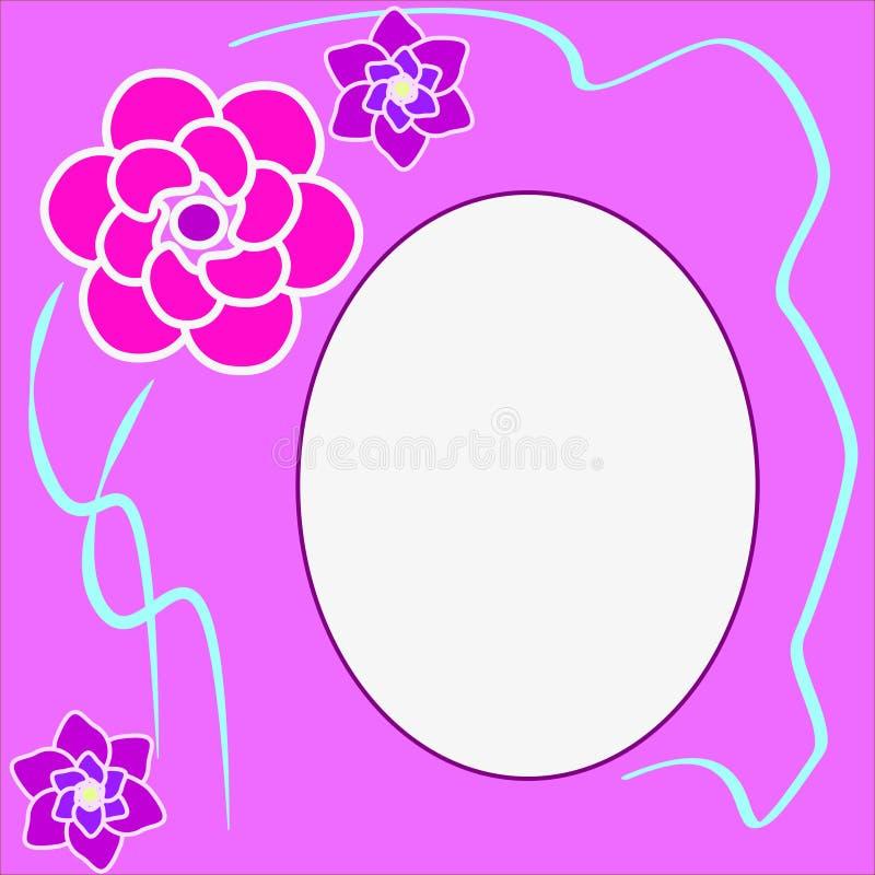 Floral στρογγυλό πλαίσιο με τη θέση για το κείμενο διανυσματική απεικόνιση