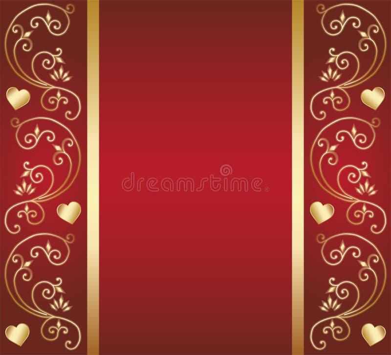 Floral σχέδιο καρδιών διανυσματική απεικόνιση