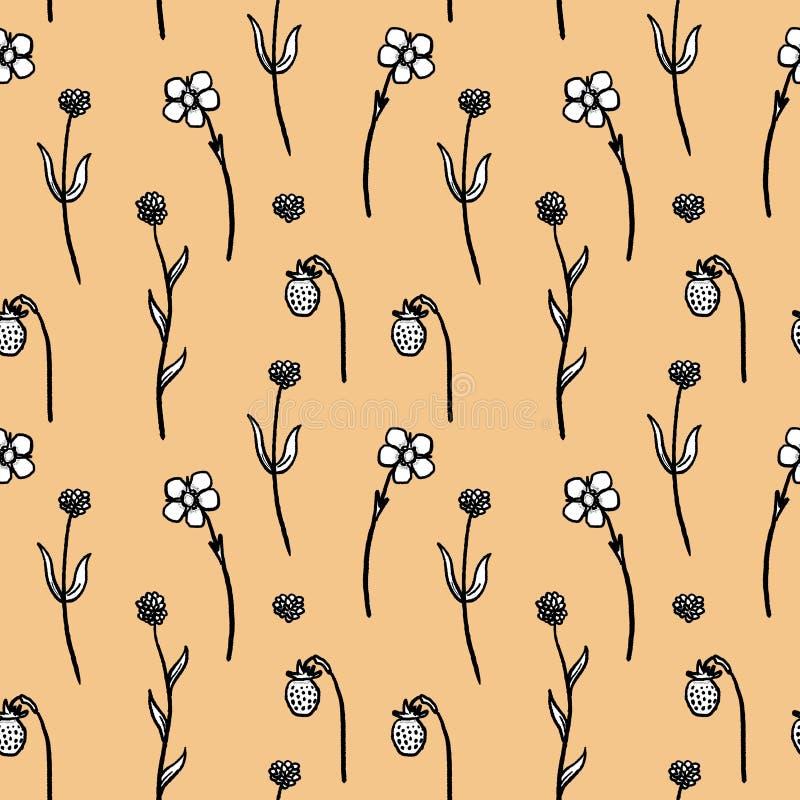 Floral σχέδιο μόδας διανυσματική απεικόνιση