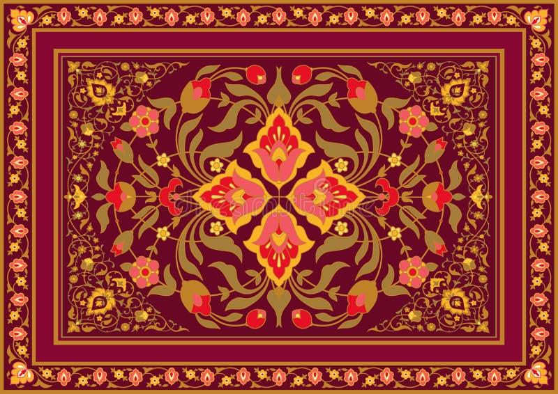 Floral σχέδιο στο ασιατικό ύφος ελεύθερη απεικόνιση δικαιώματος