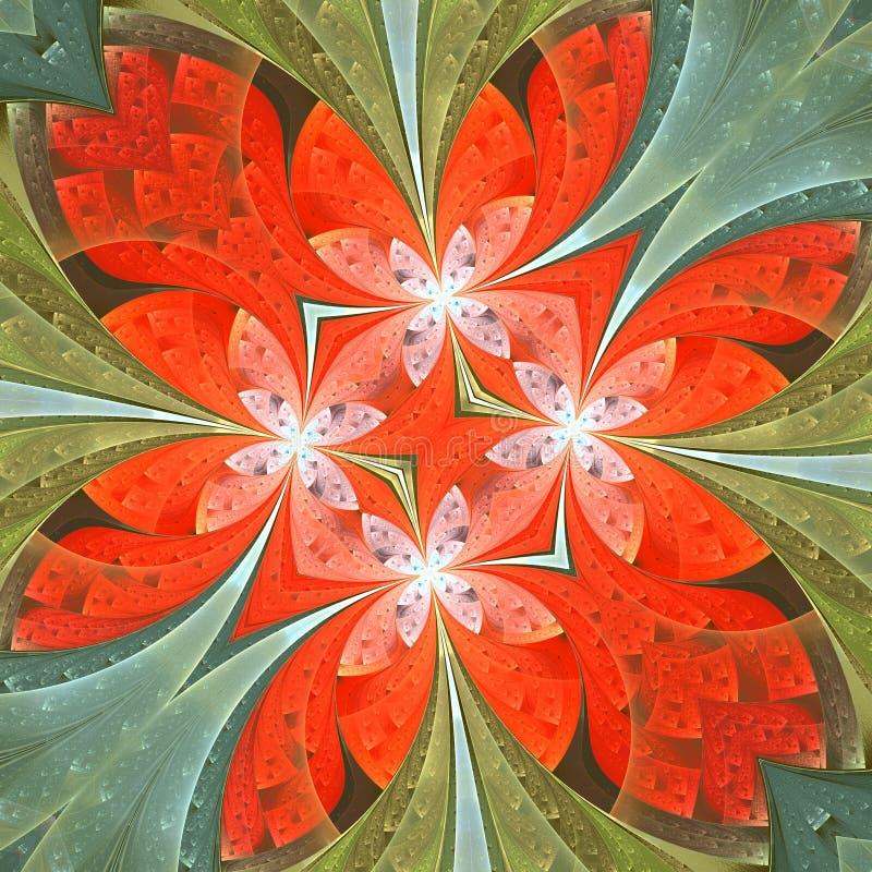 Floral σχέδιο stained-glass στο ύφος παραθύρων Μπορείτε να το χρησιμοποιήσετε για τις προσκλήσεις, καλύψεις σημειωματάριων, τηλεφ ελεύθερη απεικόνιση δικαιώματος