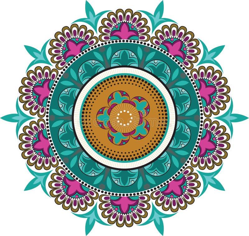 Floral σχέδια χρώματος διανυσματική απεικόνιση
