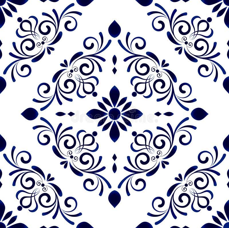 Floral σχέδιο κεραμιδιών απεικόνιση αποθεμάτων