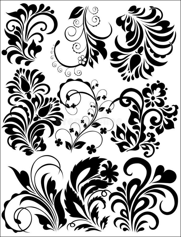 floral σύνολο διανυσματική απεικόνιση