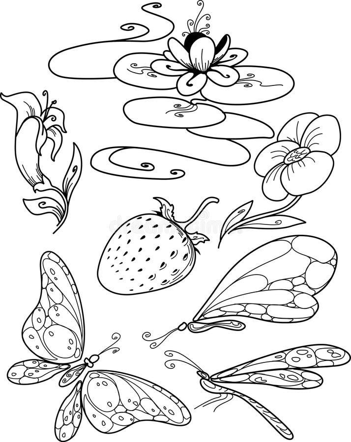 Floral σύνολο απεικόνιση αποθεμάτων