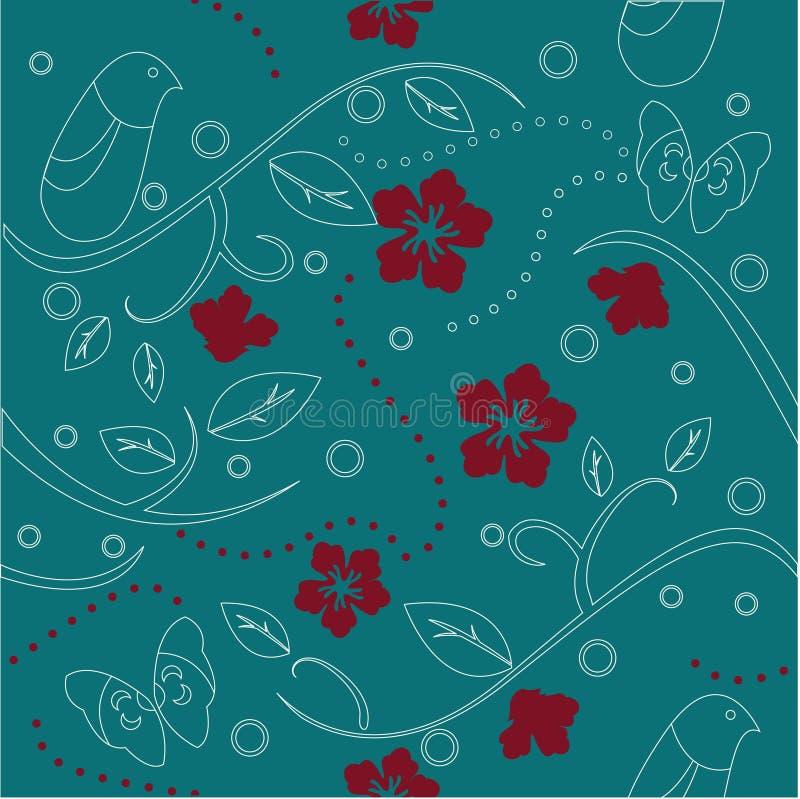 floral ταπετσαρία απεικόνιση αποθεμάτων