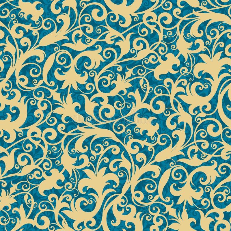 Floral ταπετσαρία διανυσματική απεικόνιση