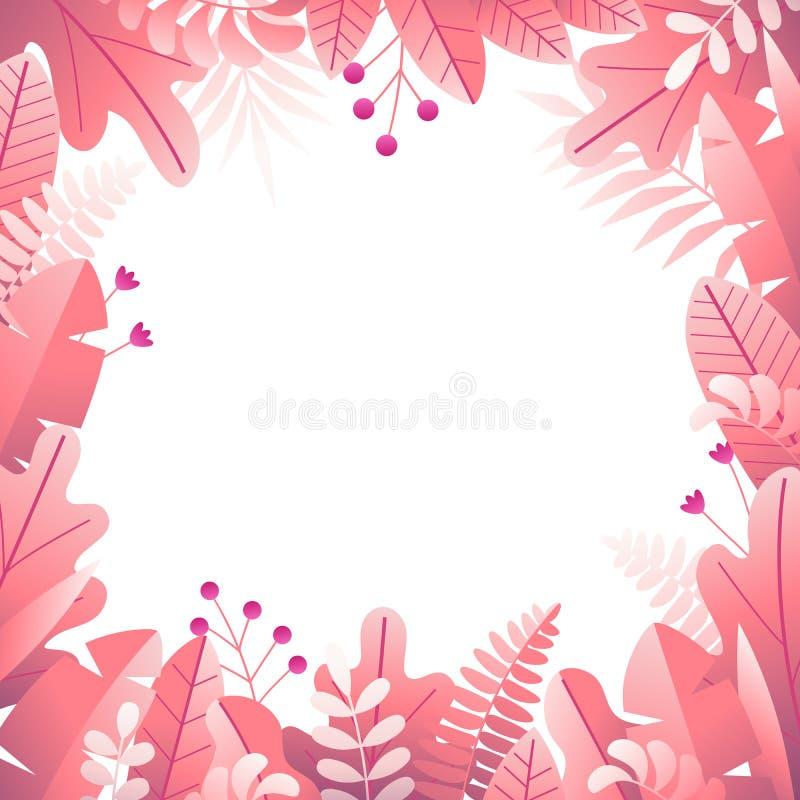 Floral τετραγωνικό πλαίσιο 3 στοκ εικόνες