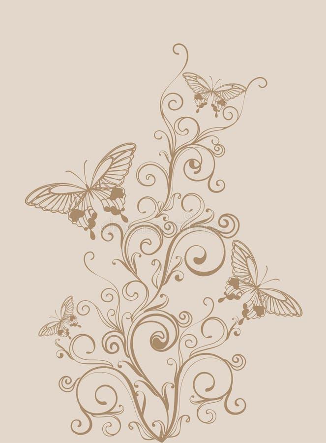 floral τρύγος ανασκόπησης απεικόνιση αποθεμάτων