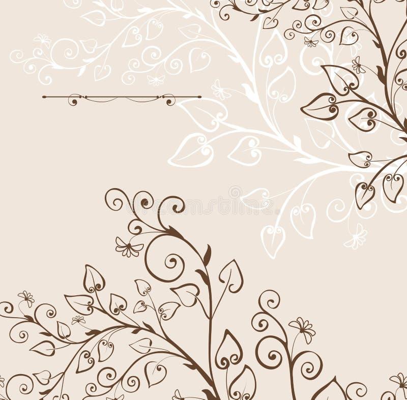 floral τρύγος ανασκόπησης ελεύθερη απεικόνιση δικαιώματος