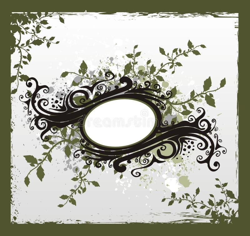 floral τρύγος κορδελλών διανυσματική απεικόνιση