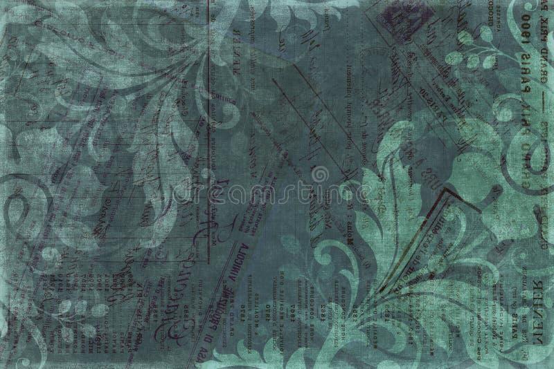 floral τρύγος λευκώματος αποκομμάτων ανασκόπησης ελεύθερη απεικόνιση δικαιώματος