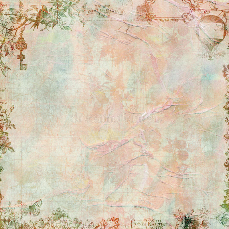 floral τρύγος λευκώματος απ&omicron στοκ εικόνες