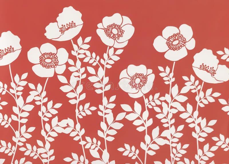 floral τρύγος Μοντέρνη διακοσμητική σύσταση απεικόνισης στοκ εικόνα με δικαίωμα ελεύθερης χρήσης