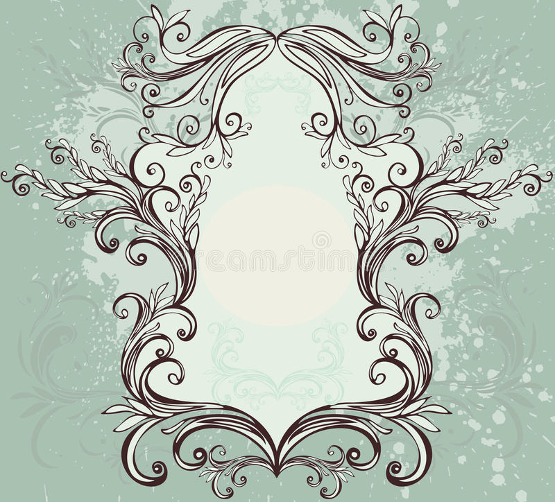 floral τρύγος πλαισίων διανυσματική απεικόνιση