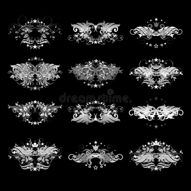 floral τρύγος στοιχείων απεικόνιση αποθεμάτων