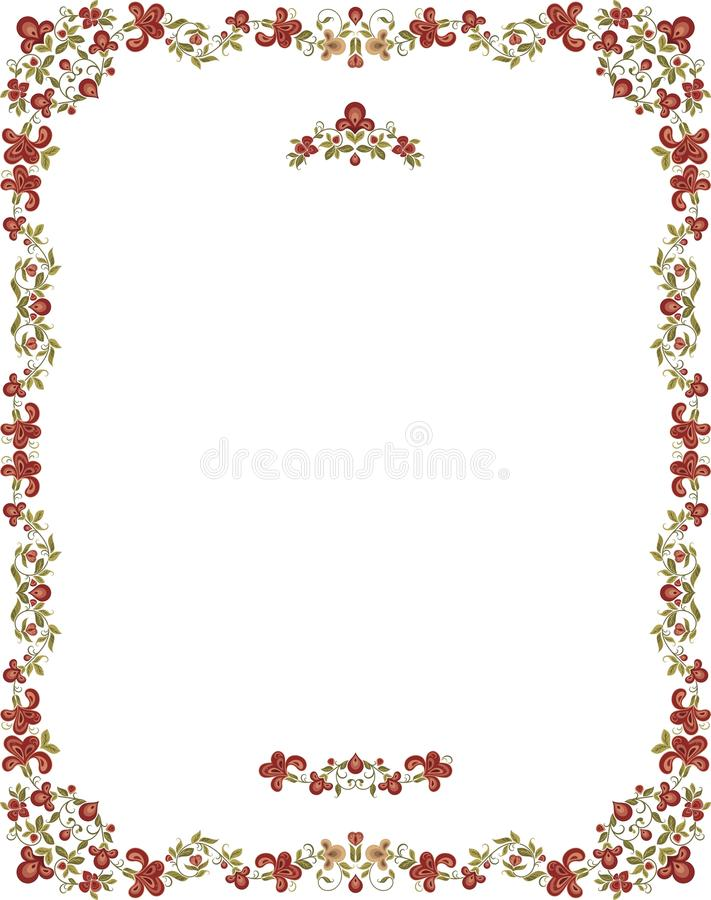 floral τρύγος ύφους πλαισίων διακοσμητικός ελεύθερη απεικόνιση δικαιώματος