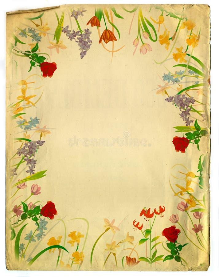 floral τρύγος ύφους σχεδίου ανασκόπησης στοκ εικόνες με δικαίωμα ελεύθερης χρήσης