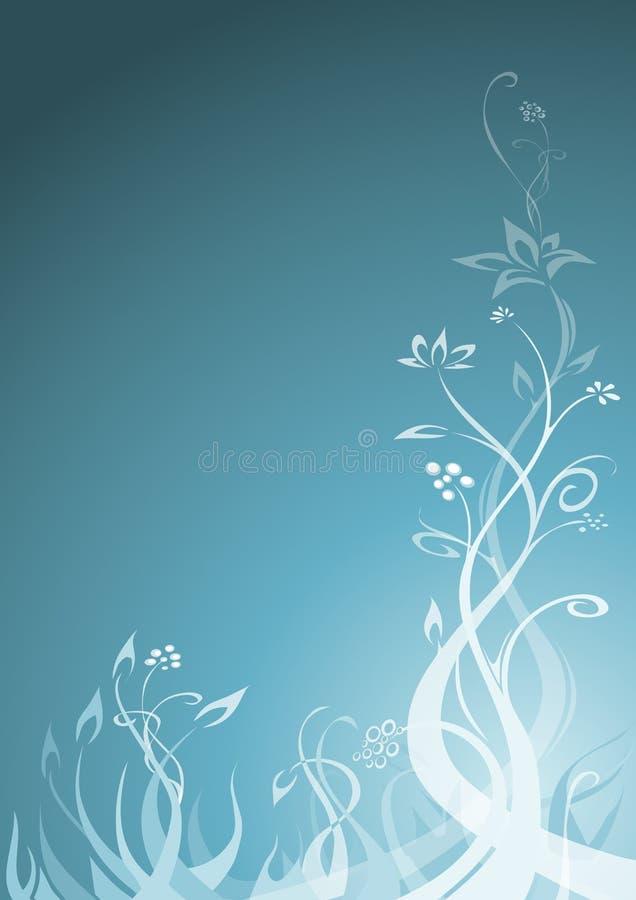 floral τυρκουάζ ανασκόπησης απεικόνιση αποθεμάτων