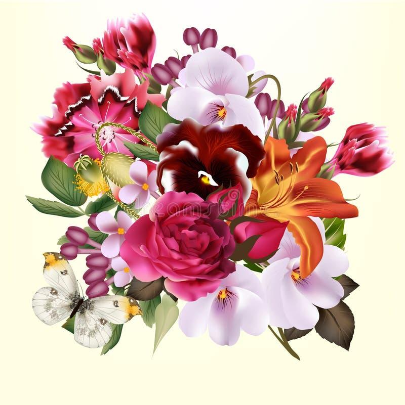 Floral υπόβαθρο μόδας διανυσματική απεικόνιση