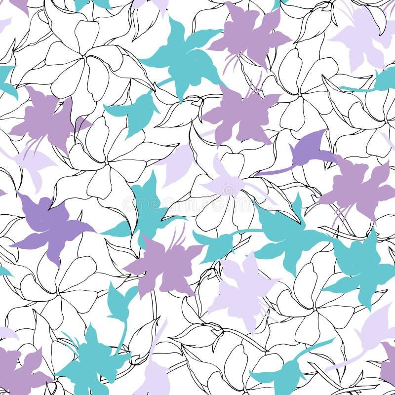 Floral υπόβαθρο των λεπτών ρόδινων και πορφυρών λουλουδιών Ελαφριά σύσταση για τις κάρτες, τα κεραμίδια, τις προσκλήσεις, τους χα διανυσματική απεικόνιση