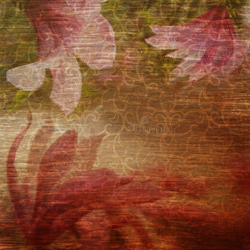 Floral υπόβαθρο Grunge στοκ φωτογραφία