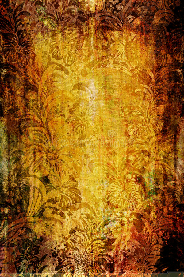 floral υφαντικός τρύγος στοκ εικόνα με δικαίωμα ελεύθερης χρήσης