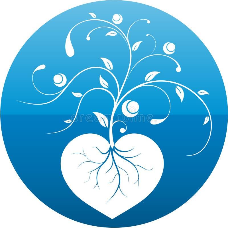 floral φυτό καρδιών διανυσματική απεικόνιση