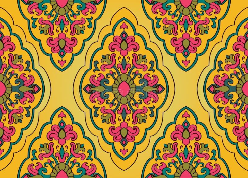 Floral φωτεινή διακόσμηση διανυσματική απεικόνιση