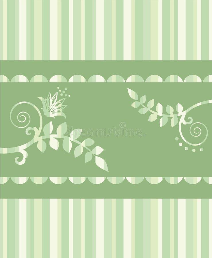 floral χαιρετισμός eco καρτών συνό&rho ελεύθερη απεικόνιση δικαιώματος