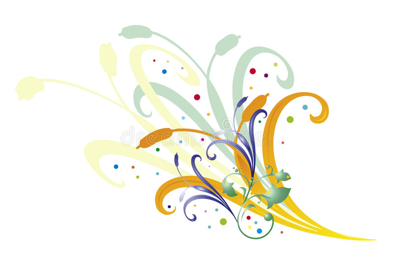 Floral. Illustration also available in vector fomat - eps royalty free illustration