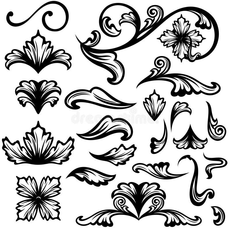 Download Floral stock vector. Illustration of leaf, curl, collection - 28405290