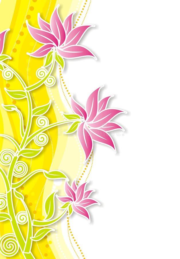 .floral. illustration libre de droits
