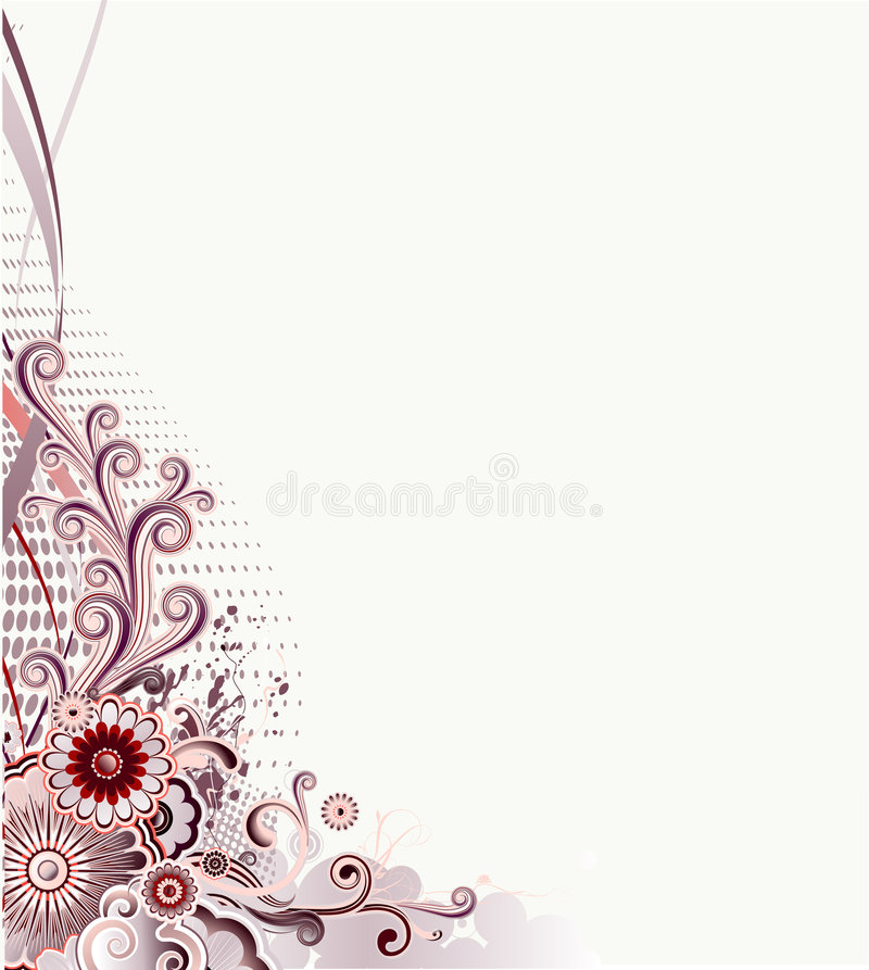 Floral illustration stock