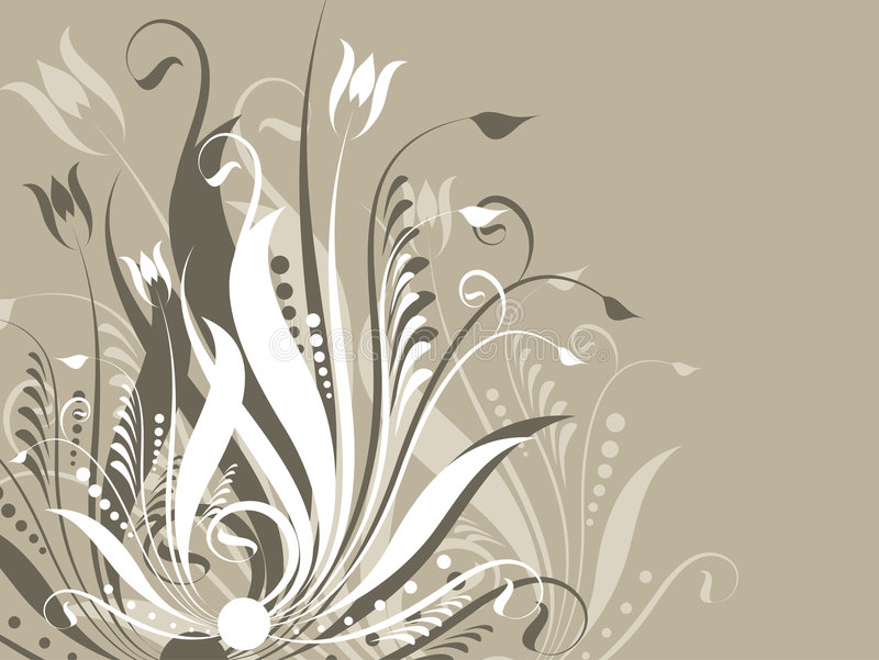 Floral abstract royalty free illustration