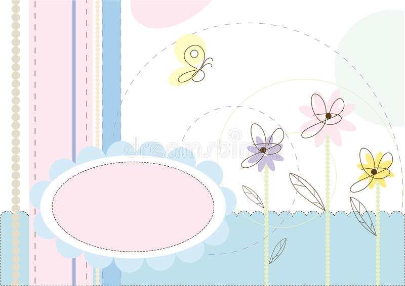 Floral abstract background vector illustration