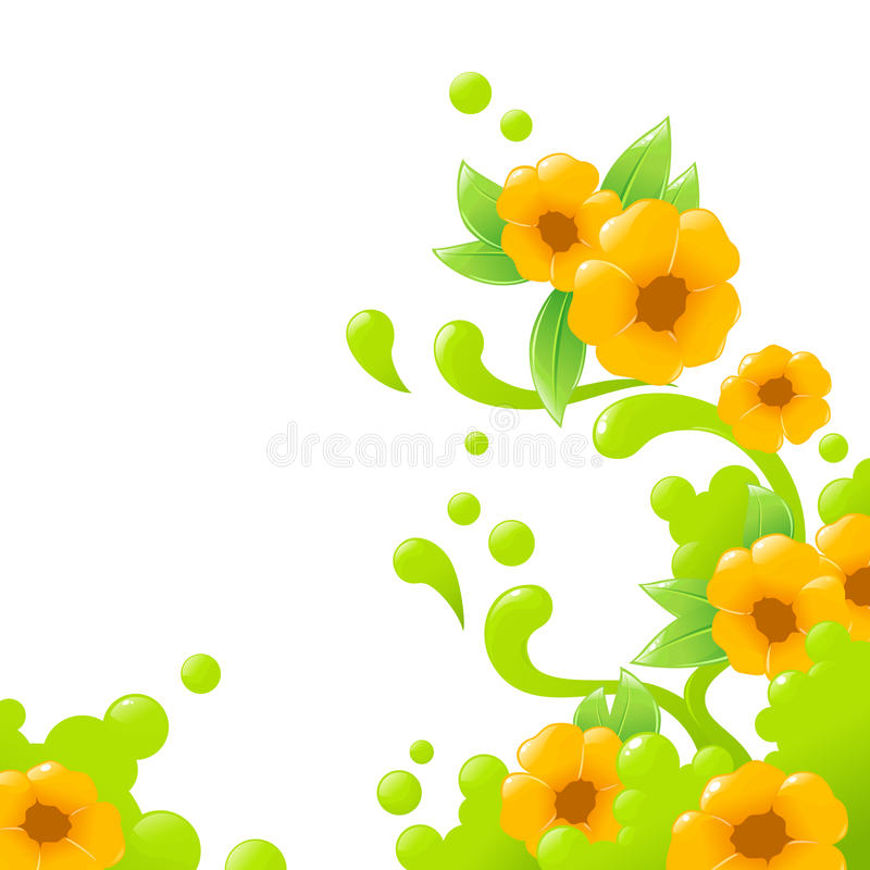 Floral Abstract Background Stock Photo