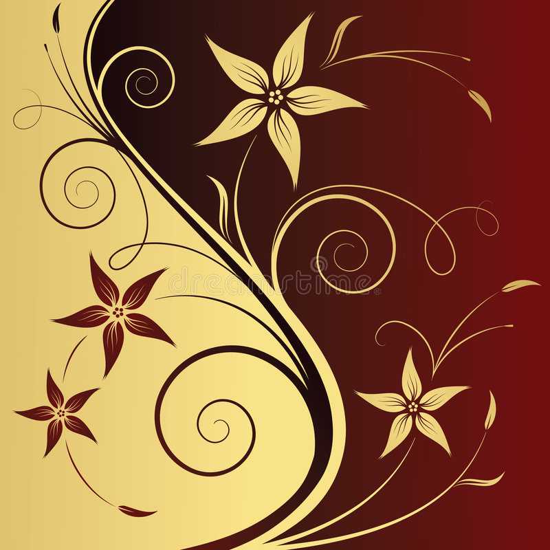 Floral abstract background royalty free illustration