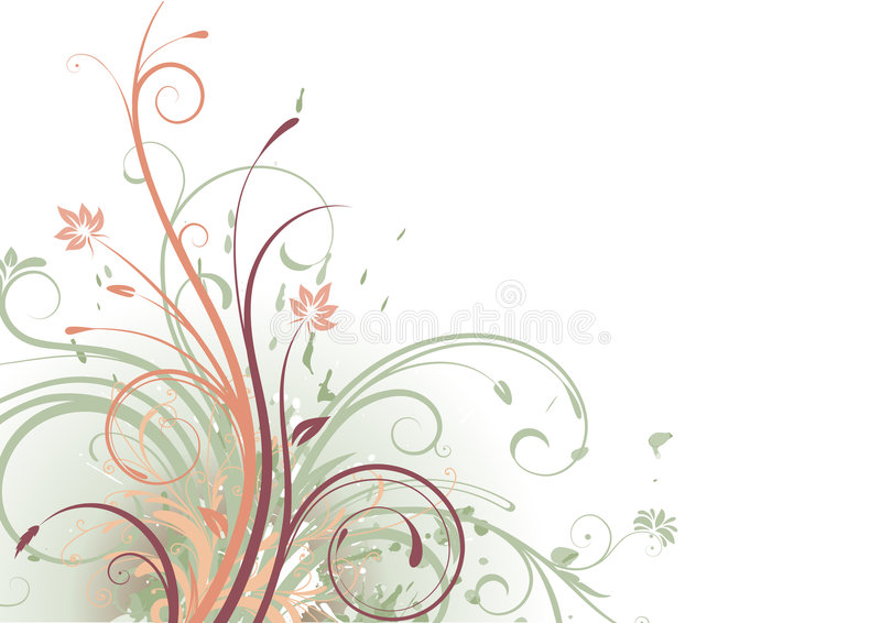 Floral abstract background stock illustration
