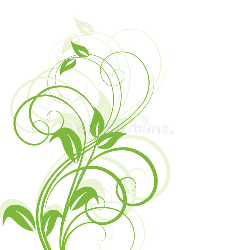 Floral abstract design element vector illustration