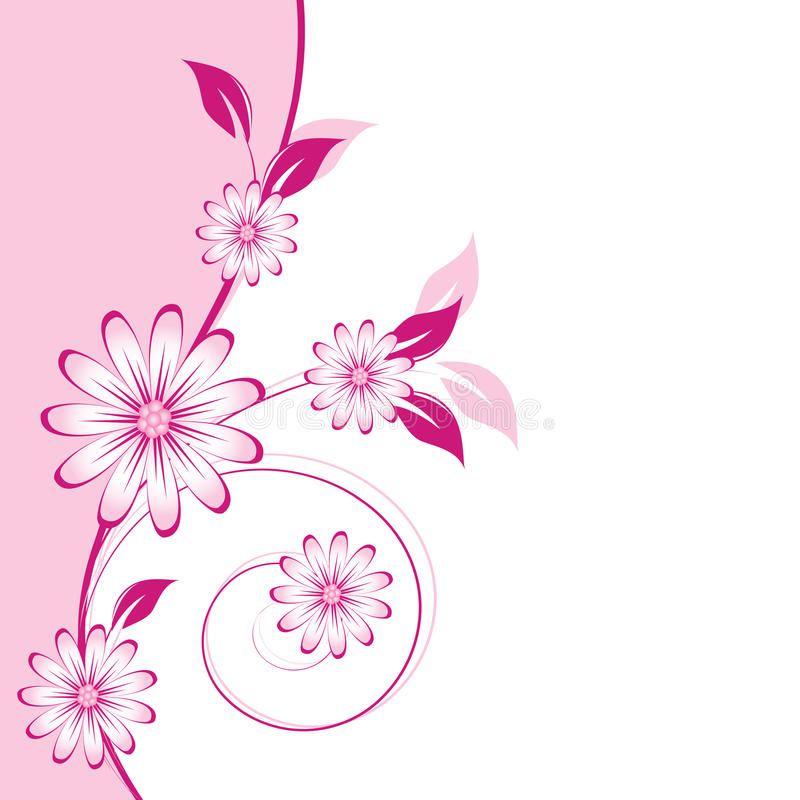 Floral abstract design element royalty free illustration