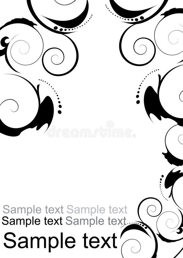 Free Floral Abstract Design Elements Royalty Free Stock Image - 7908016