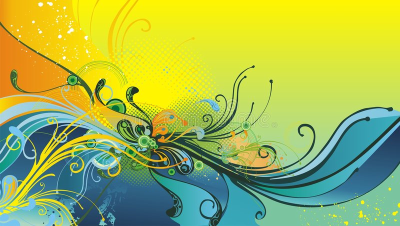 Floral Abstract Illustration royalty free illustration