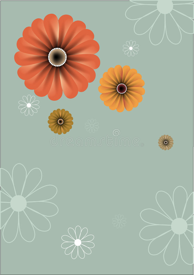 Free Floral Abstract Retro Background Royalty Free Stock Photos - 7356748